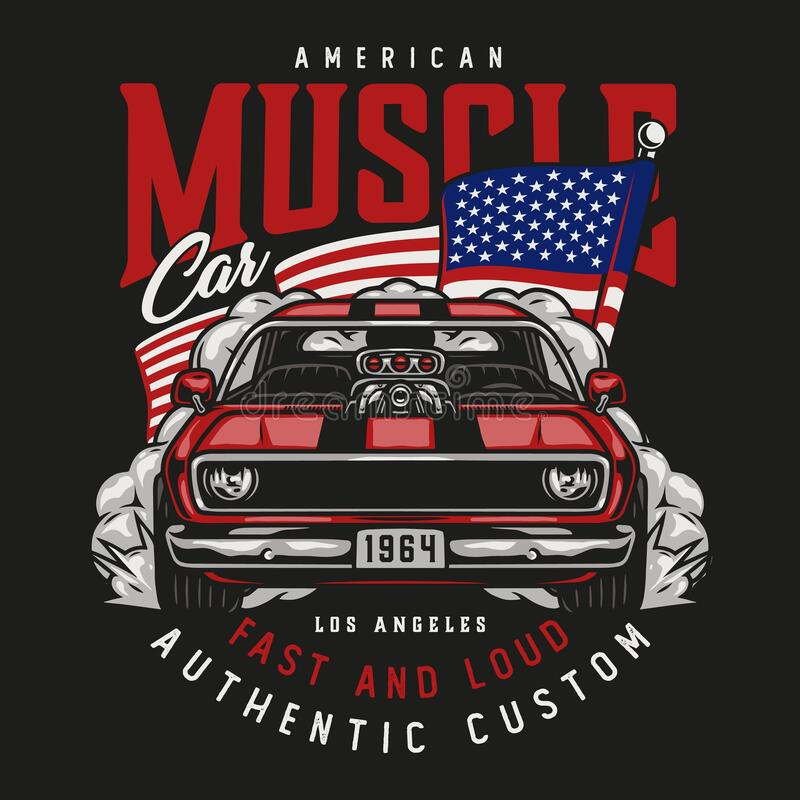 Free American Custom Car Vintage Label Stock Images - 219287544