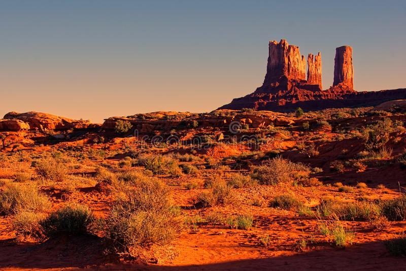 American desert sunset royalty free stock photo