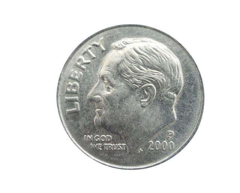 American dime royalty free stock photography
