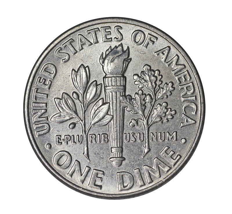 American Dime stock image