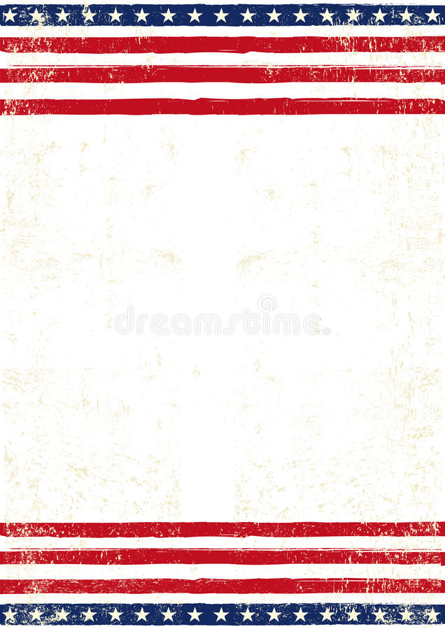 American dirty Flag poster royalty free stock images