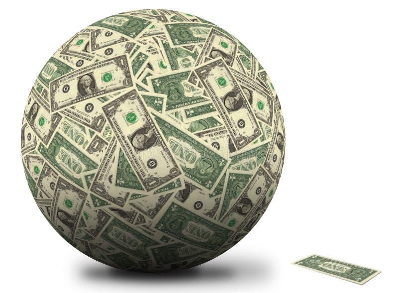 American dollar ball royalty free stock image