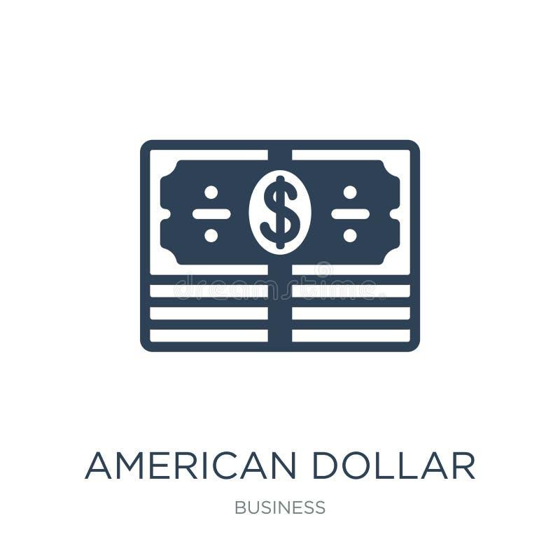 american dollar bill icon in trendy design style. american dollar bill icon isolated on white background. american dollar bill royalty free illustration