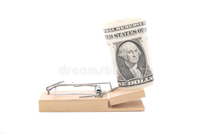 Download American Dollar Bill On Mouse Trap Stock Image - Image of monetary, trap: 8712291