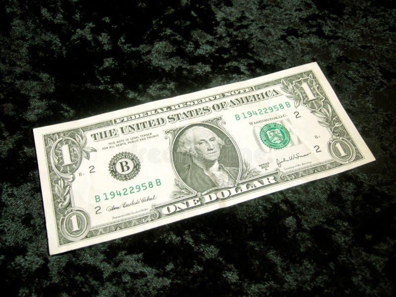 American Dollar bill prestige. On black background royalty free stock photo