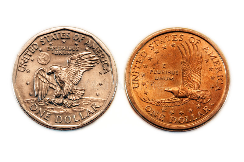 Download American Dollar Coin Comparison Stock Image - Image: 8547391