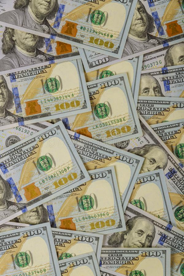 American dollar money in background stock image