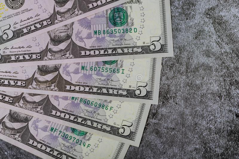 American dollar money in background for business stock photos