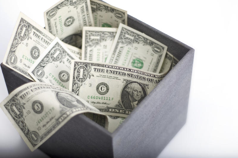 Download American Dollars In Box Stock Image - Image: 16054501