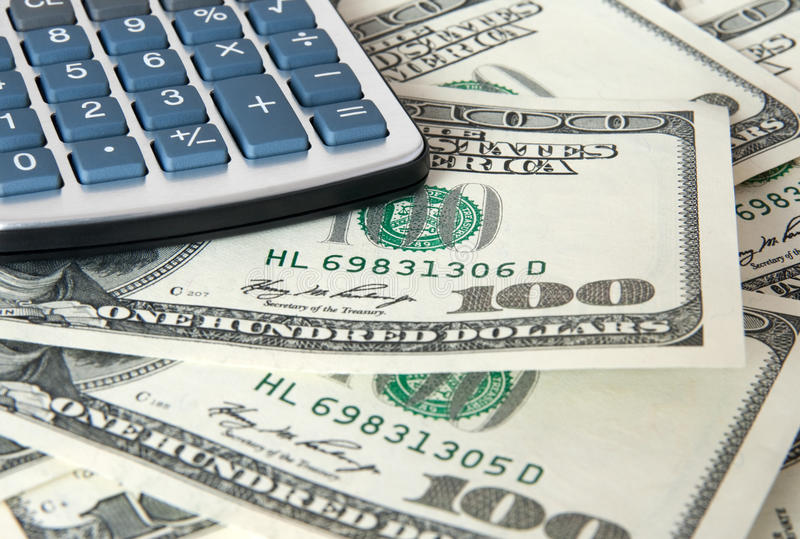 Download American Dollars And Calculator Close-up Stock Images - Image: 18724614
