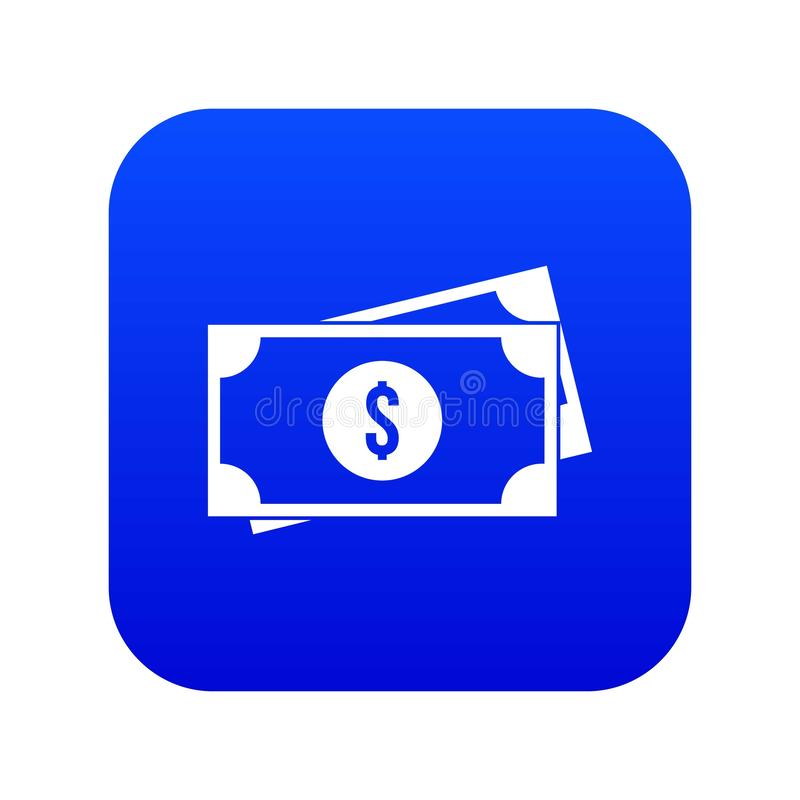 American dollars icon digital blue royalty free illustration