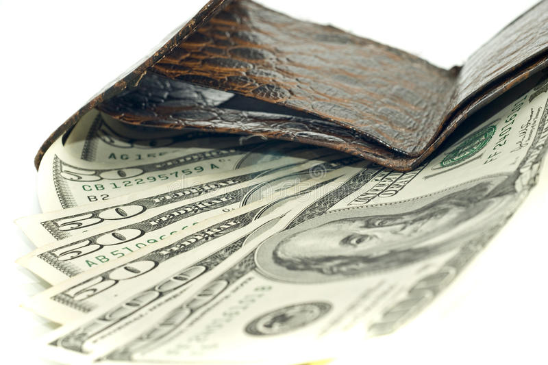 Download American dollars in wallet stock image. Image of finance - 12294225