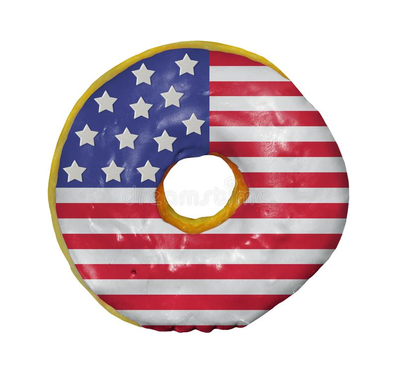 American donut on white stock photo