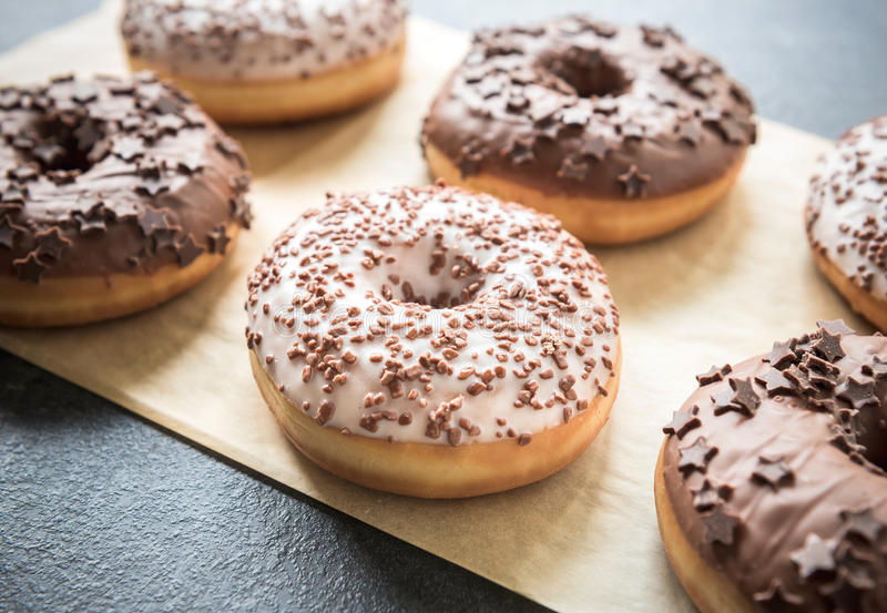 American donuts royalty free stock image