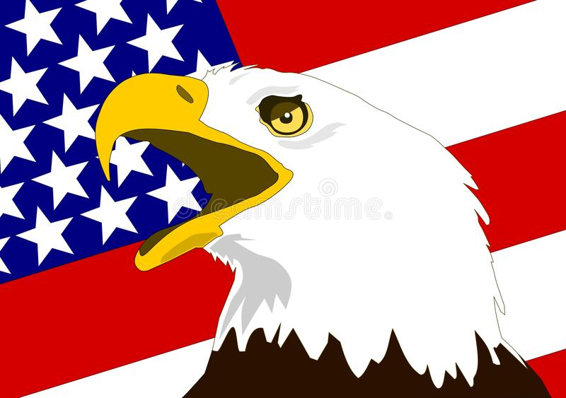 Download American Eagle stock vector. Illustration of background - 18406794