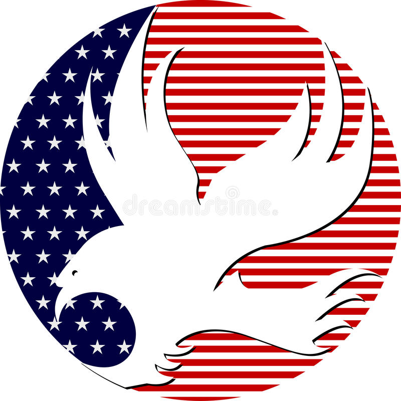 Download American eagle stock vector. Illustration of logo, full - 19452905