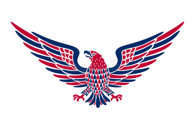 American eagle background. easy to edit vector illustration of eagle with American flag for Independence day royalty free illustration