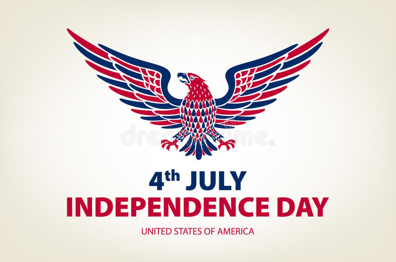 American eagle background. easy to edit vector illustration of eagle with American flag for Independence day vector illustration