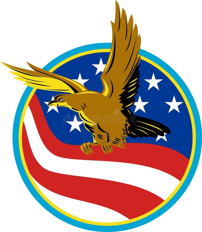 American Eagle Carry USA Flag Retro