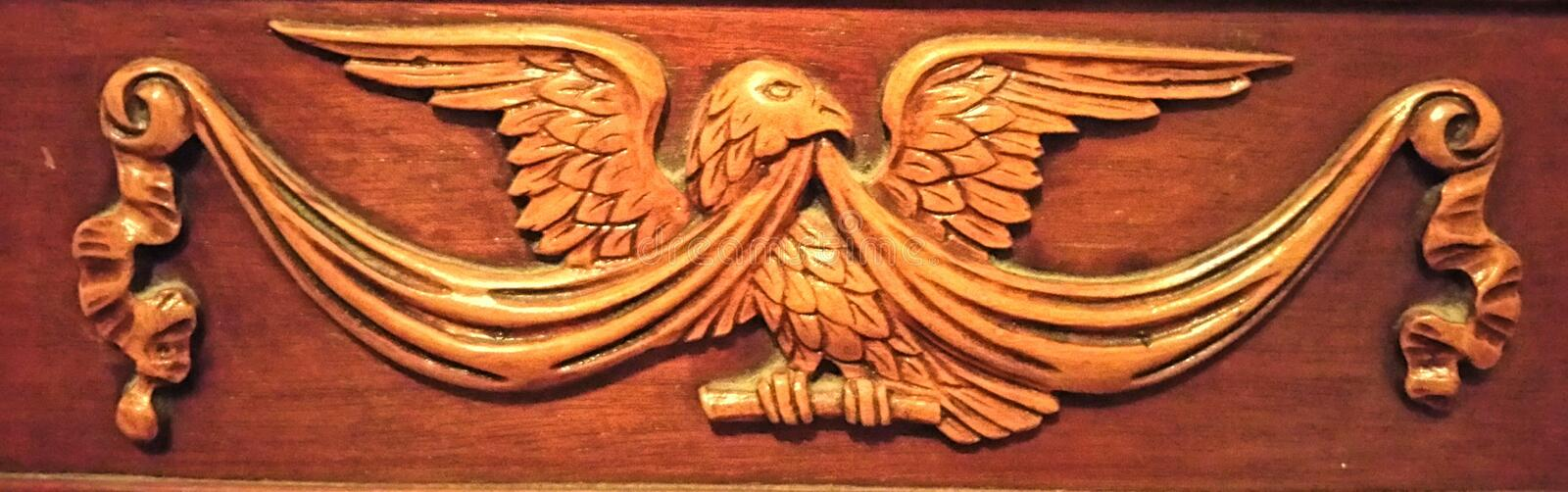 American Eagle Carving royalty free stock image