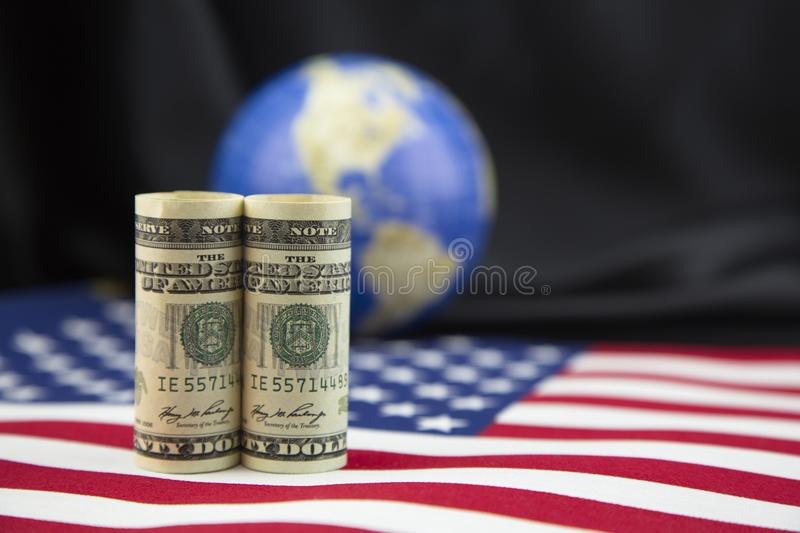 American economic policy encompasses global trade stock photos