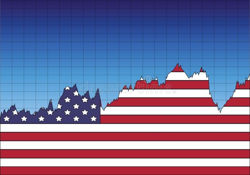 The American Economy graph royalty free stock photo