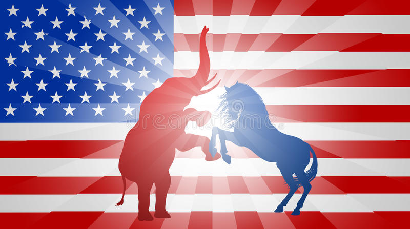 American Election Flag Concept vector illustration