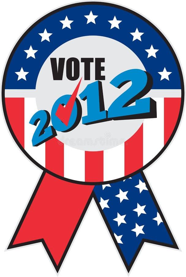 Download American Election USA Ribbon Tick 2012 Stock Illustration - Image: 22030653