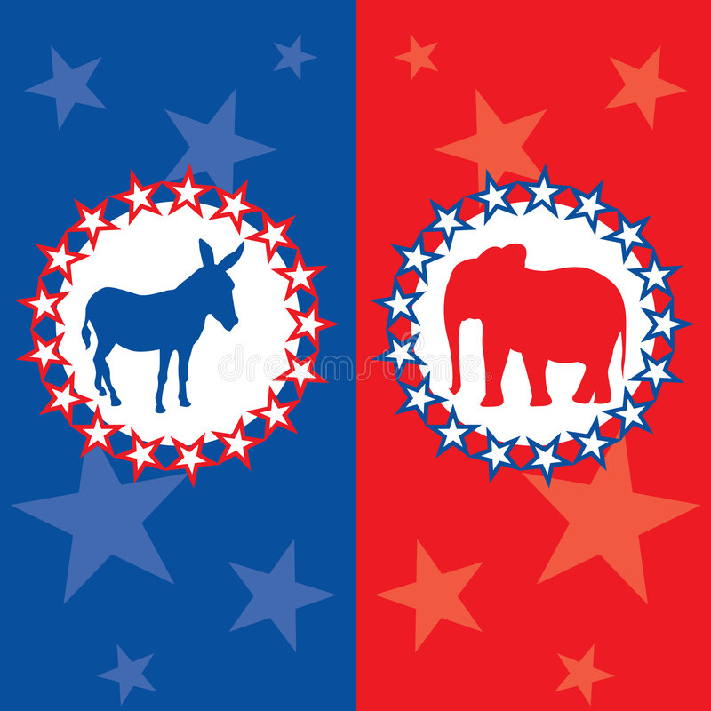 American election vector illustration royalty free stock photos