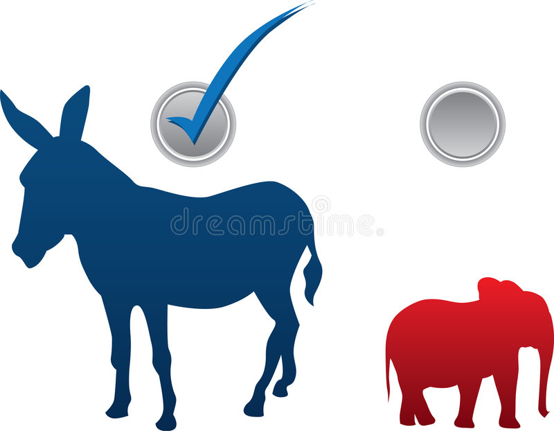 American election vector illustration stock photo