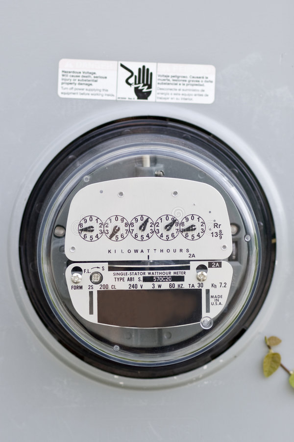 American electricity meter. With room for copy royalty free stock photos