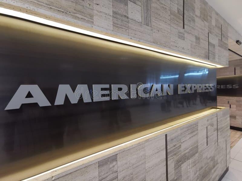 American Express-Aufenthaltsraum @ Sydney International Airport lizenzfreies stockbild