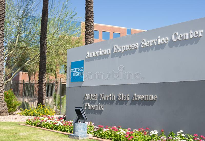 American Express Service Center in Phoenix,Arizona,USA royalty free stock images