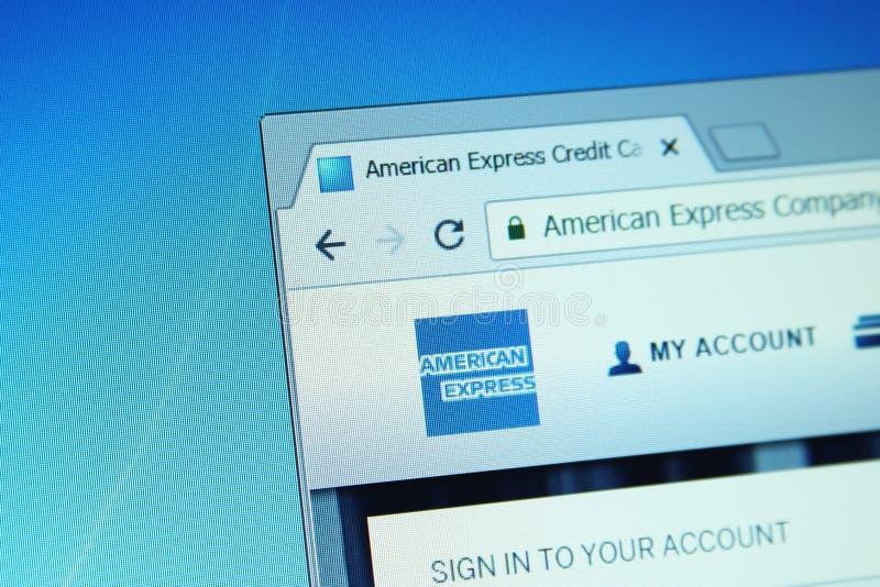 American Express-website royalty-vrije stock fotografie