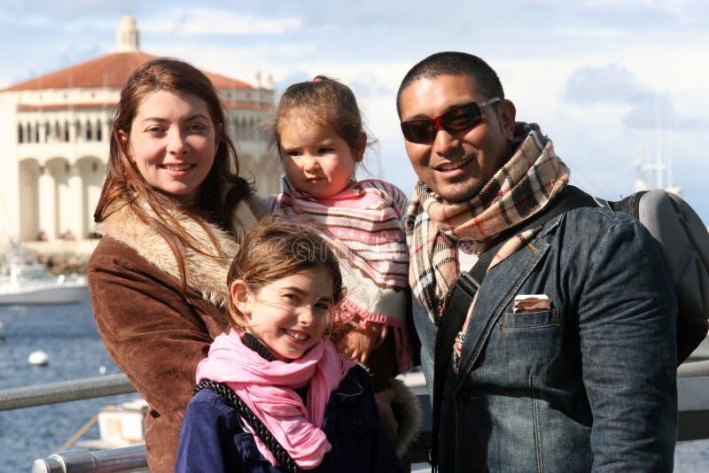 American Family. Family on Catilina Island, family vacation
