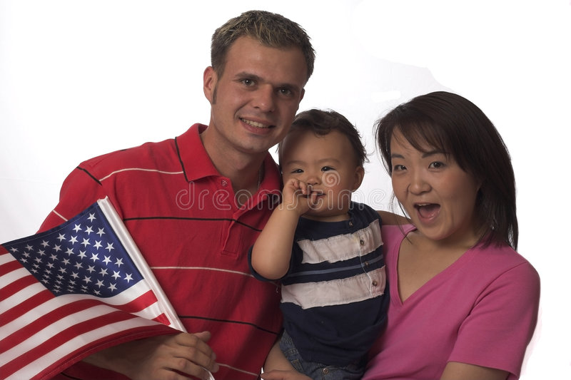 Download American family stock image. Image of celebrate, flag, isolated - 836933