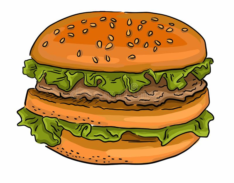 American fast food pattern royalty free stock image