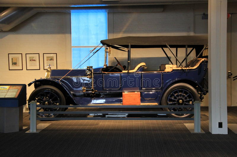 1913 American Fiat, on display,The Saratoga Automobile Museum ,New York,2015. Gorgeous example of 1913 American Fiat, displayed in showroom, The Saratoga stock image