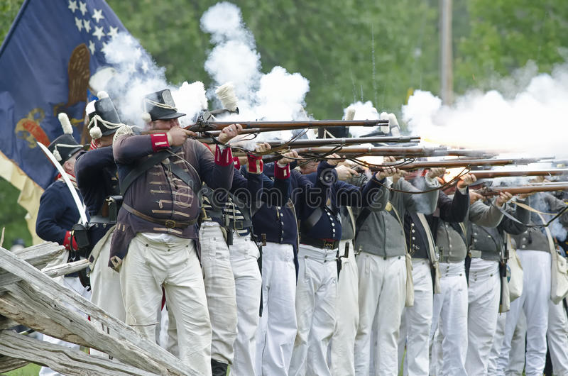 American Firing Line royalty free stock images