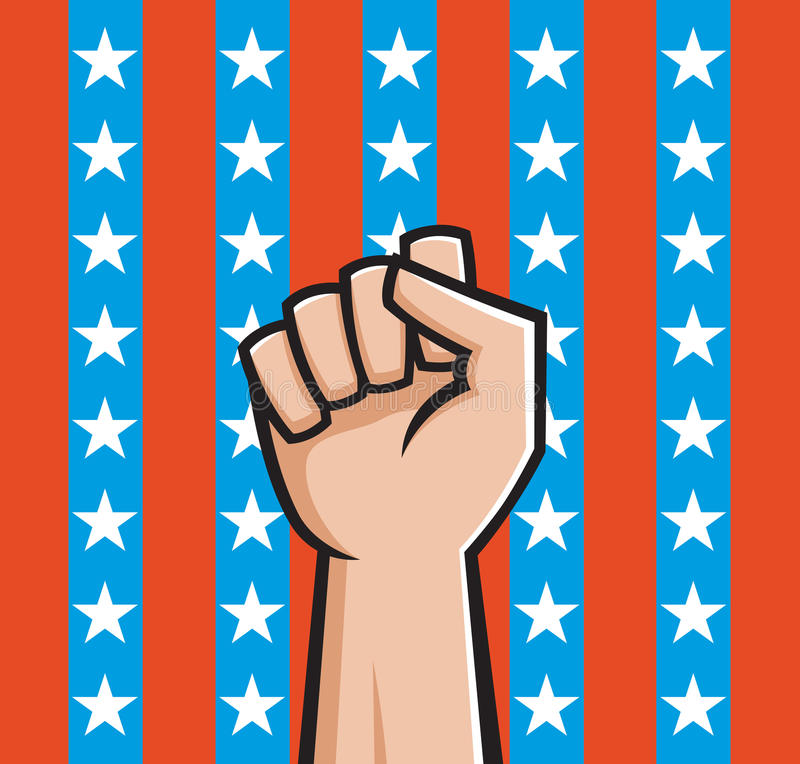 American Fist vector illustration