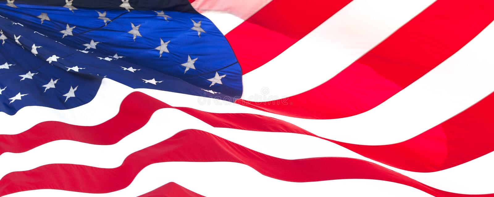 American flag 021. Photo of American flag waving in the wind stock image