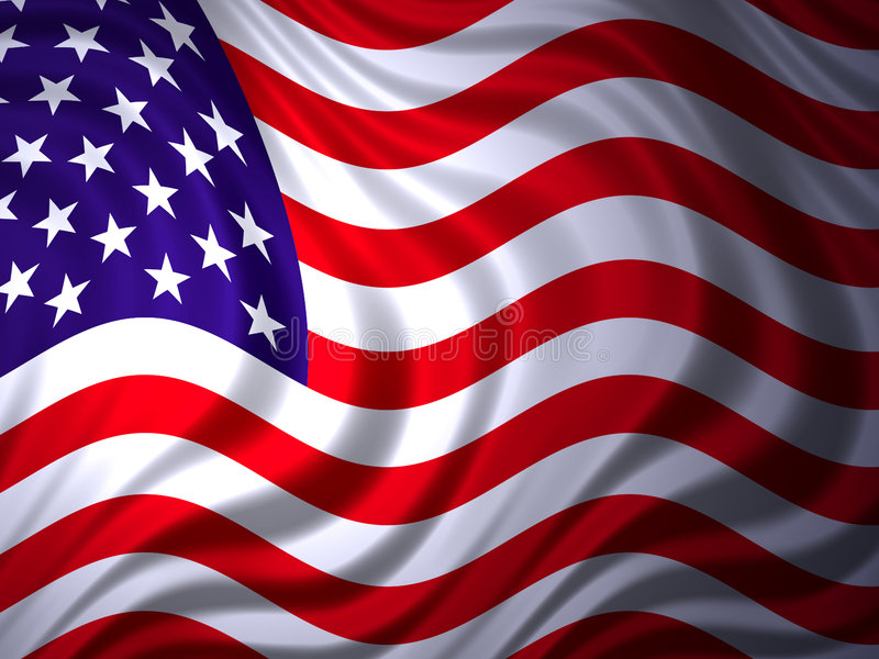 American flag 1 royalty free illustration