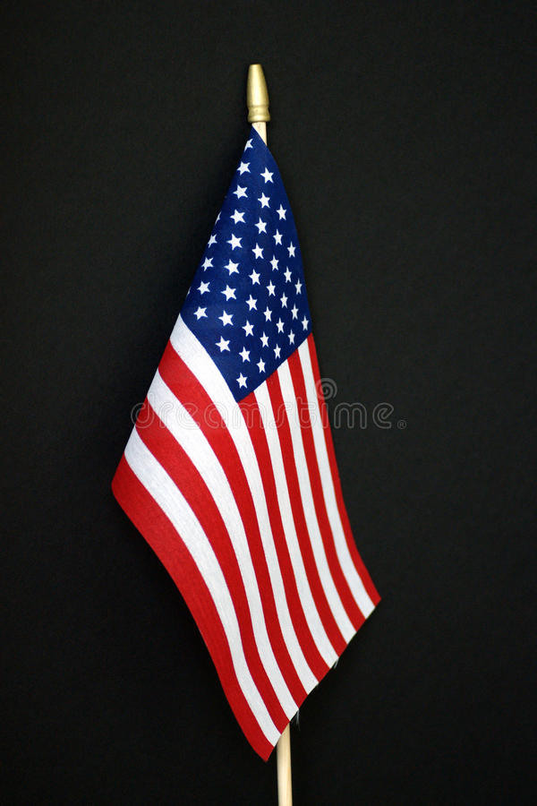 American flag. Against a black background stock photos