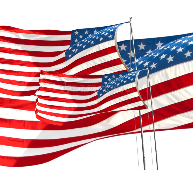American flag. Close up of the American flag royalty free stock photos