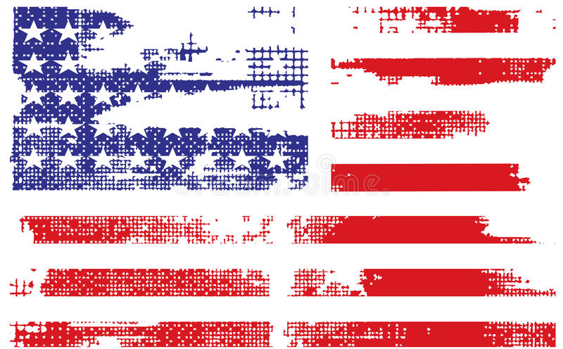 American flag. Grunge american flag background,vector illustration stock illustration