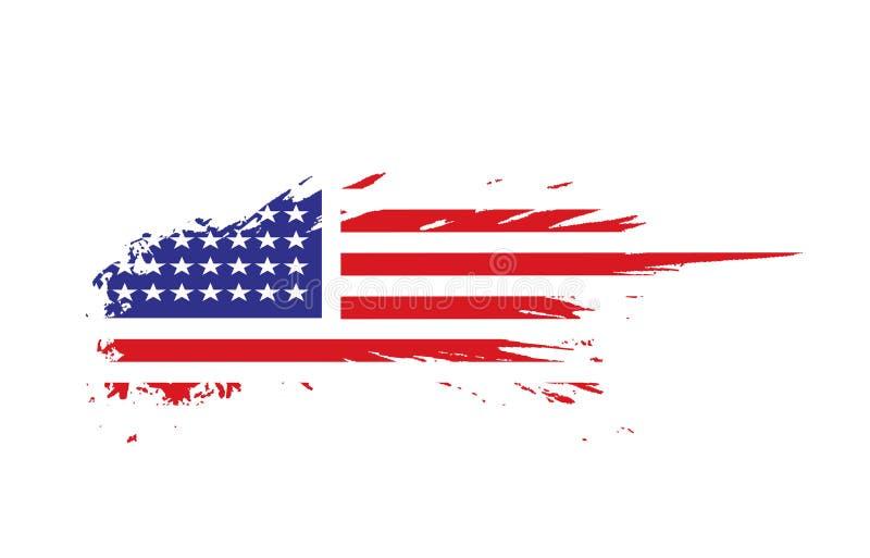 American flag. Grunge american flag background,vector illustration royalty free illustration