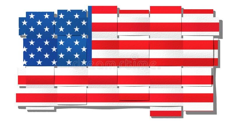 American flag stock illustration
