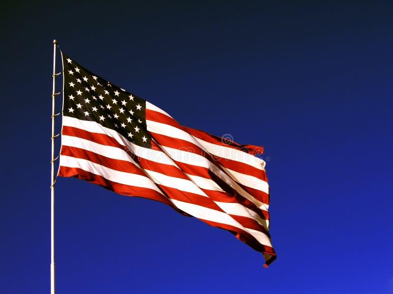 The American flag. Beauty shot stock photo