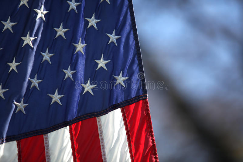 American flag. A section of the american flag royalty free stock images