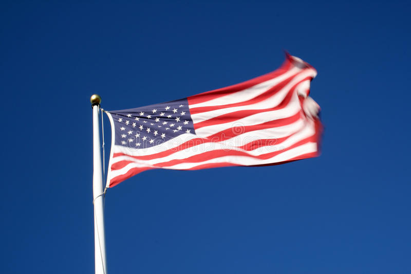 American flag. The Stars and Stripes, Old Glory, The Star Spangled Banner stock photo